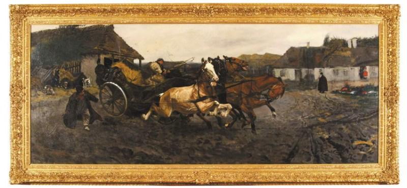Józef Chełmoński, Próba czwórki, 1878 r. Polswiss Art, 1,2 mln. PLN Desa Unicum 2007 r., 1,58 mln. PLN Żródło: www.wikipedia.pl